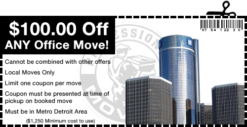 Professional Movers.com Coupon Detroit Wyoming
