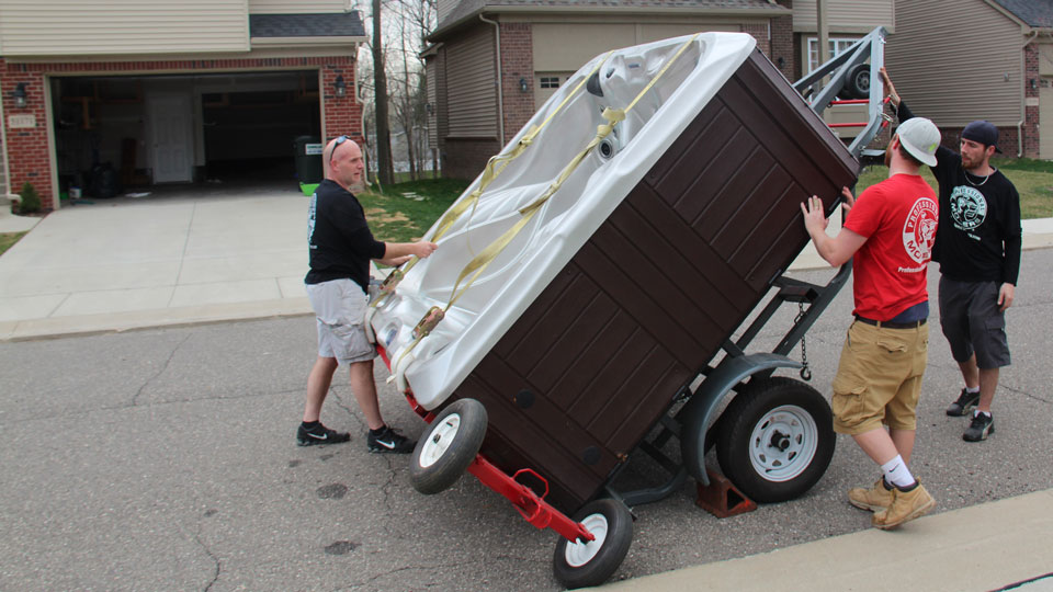 Professional Movers.com Hot Tub Moving Services 1