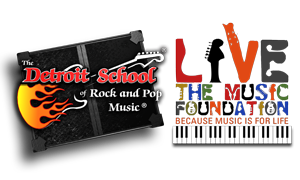 Detroit School and Live Music Foundation Logos