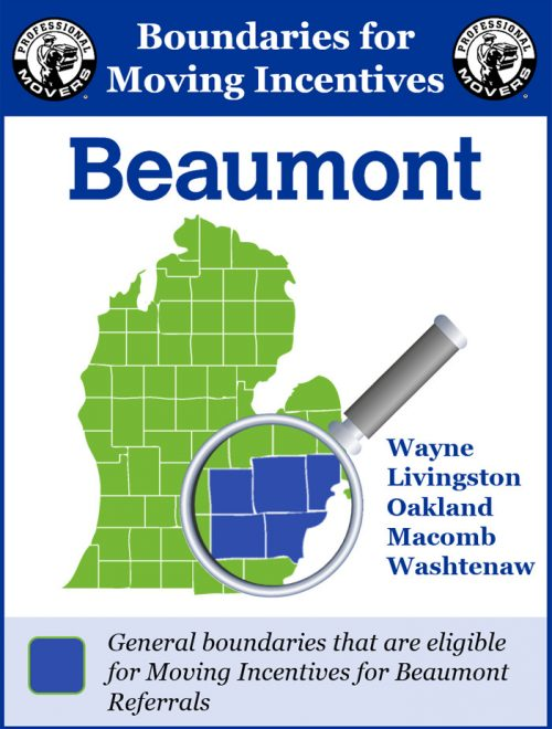 Professional Movers.com Beaumont Boundaries
